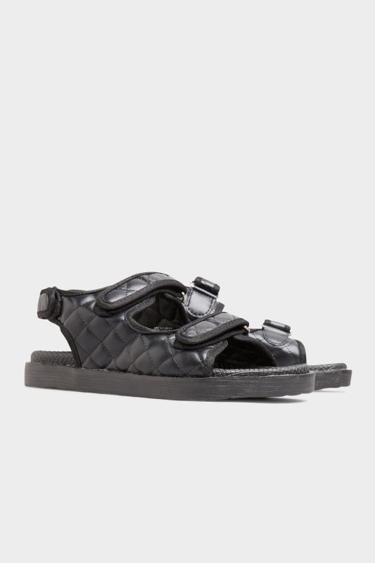 Black Quilted Velcro Sandal_E.jpg