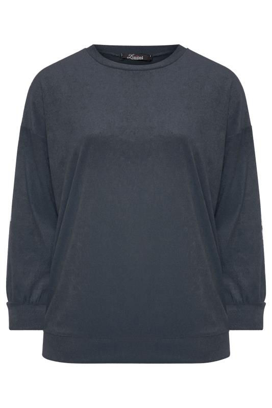 LIMITED COLLECTION Slate Grey Flannel Towelling Lounge Sweatshirt