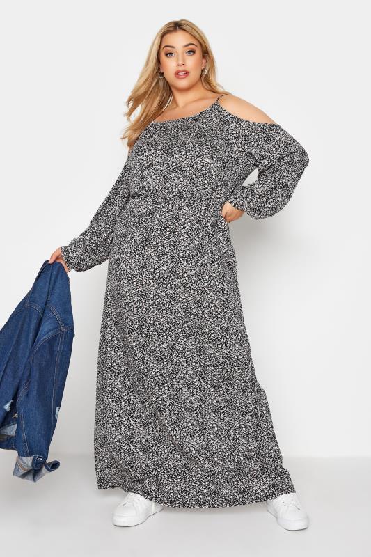 Black Floral Cold Shoulder Maxi Dress_B.jpg