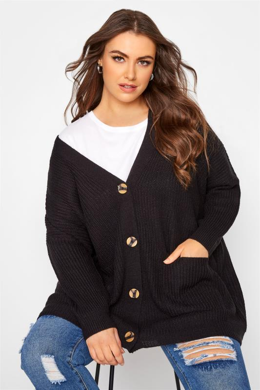 Black Button Knitted Cardigan_A.jpg