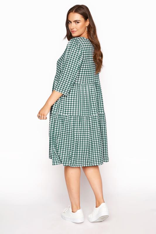 LIMITED COLLECTION Green Gingham Smock Midi Dress_C.jpg