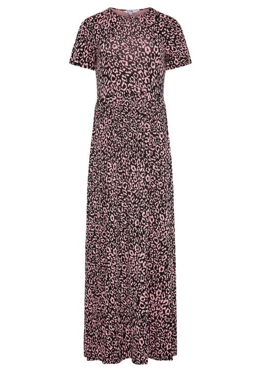 LTS Pink Animal Print Tiered Midaxi Dress_F.jpg