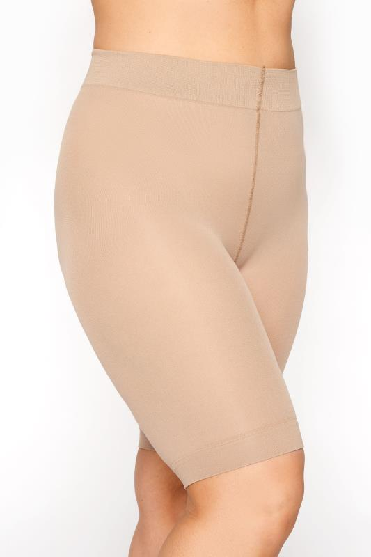 Plus Size  Nude Anti Chafing Shorts