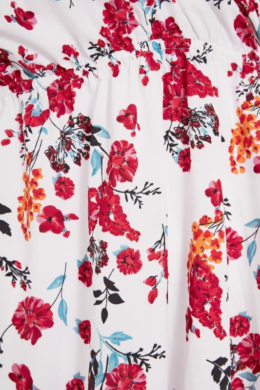 White Floral Cold Shoulder Frill Top_S.jpg
