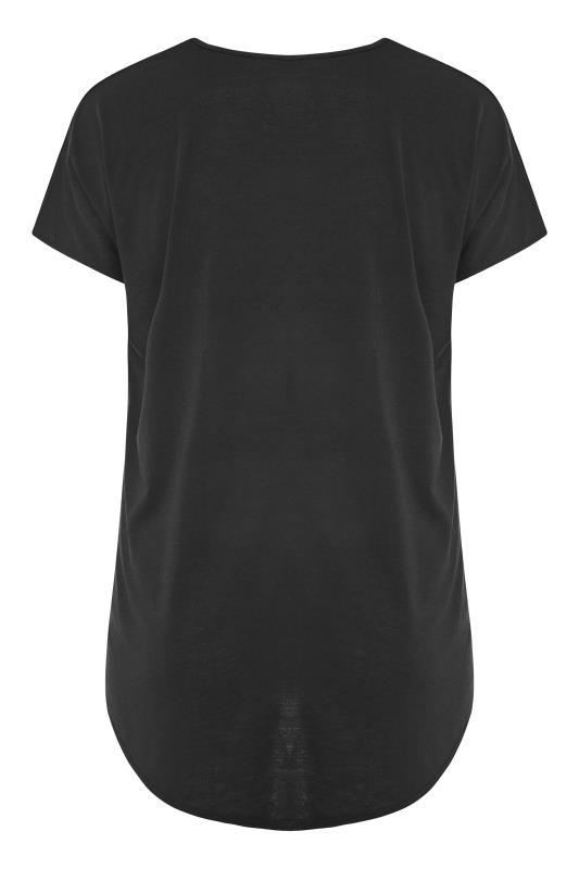 Black Dogtooth Heart Grown On Sleeve T-Shirt_BK.jpg