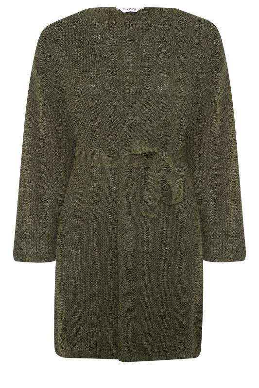 Khaki Wide Sleeve Belted Cardigan_F.jpg
