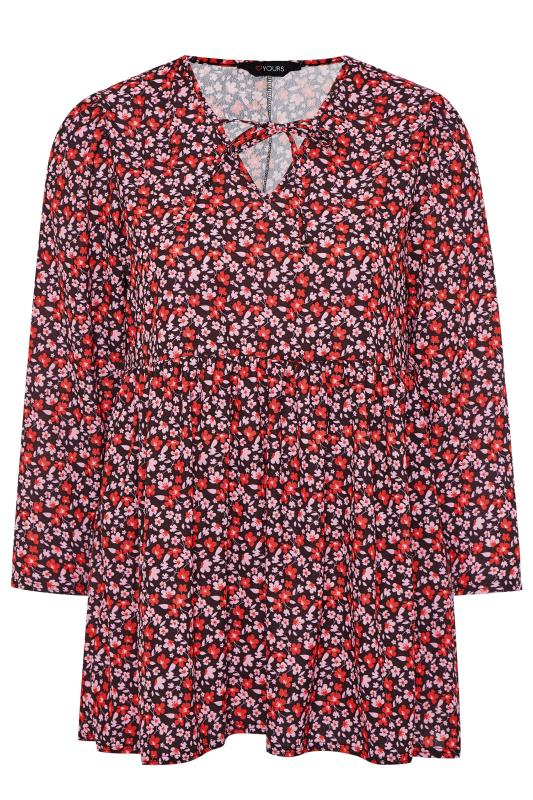 Pink & Red Ditsy Smock Blouse