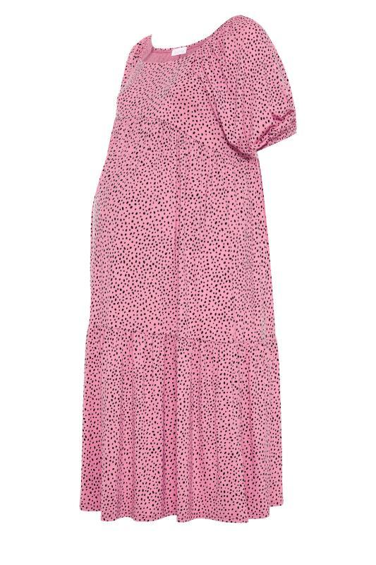BUMP IT UP MATERNITY Pink Square Neck Midaxi Dress_F.jpg