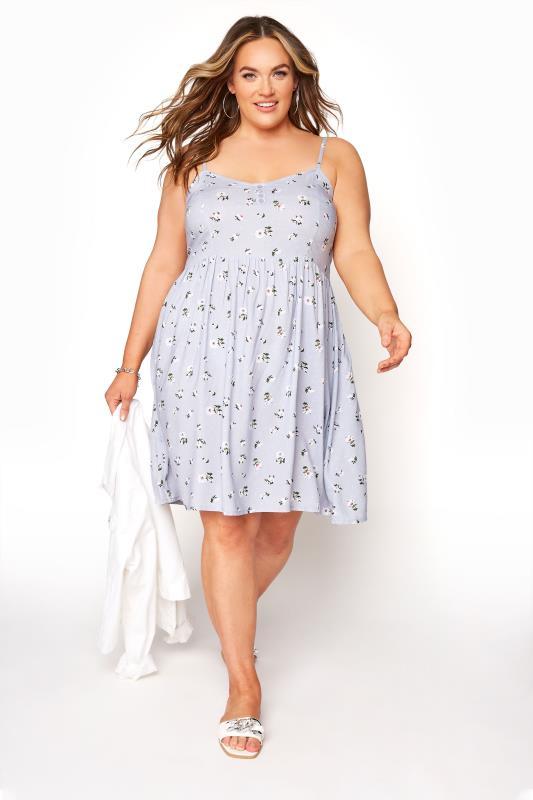Blue Ditsy Floral Strappy Dress_B.jpg