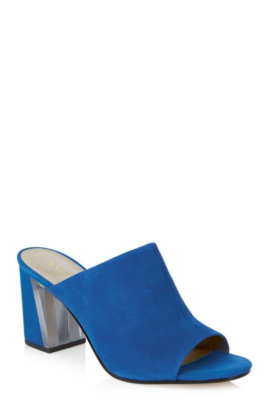 Tall Slides & Mules Blue Nine West Gemily Heeled Mule