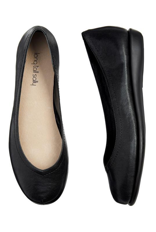 LTS Black Callie Comfy Leather Ballerina