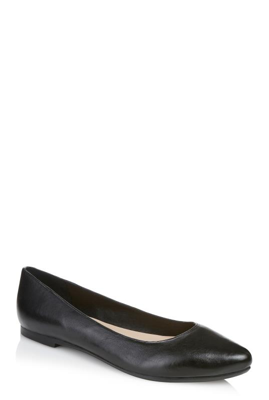 LTS Black May Leather Ballerina