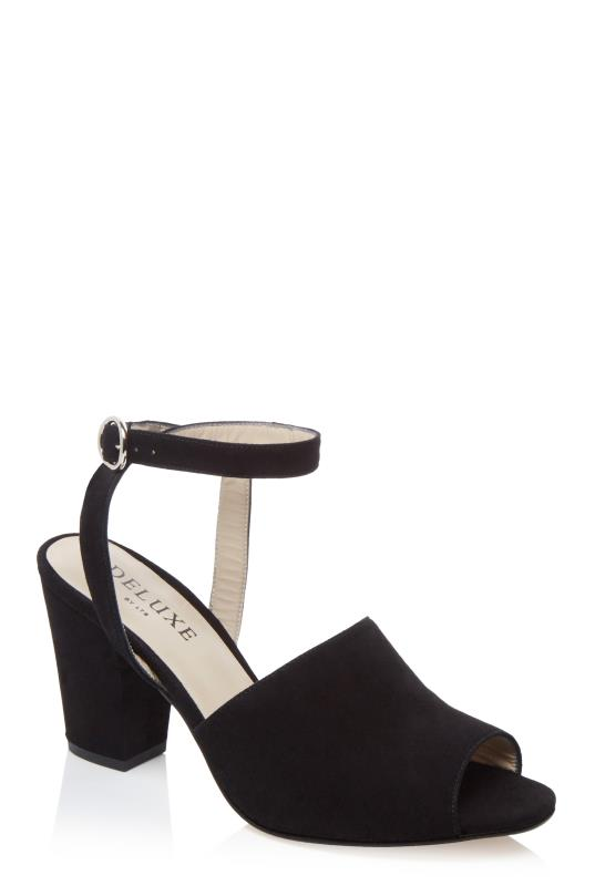Tall Sandals Deluxe Block Heel Ankle Strap Suede Sandal
