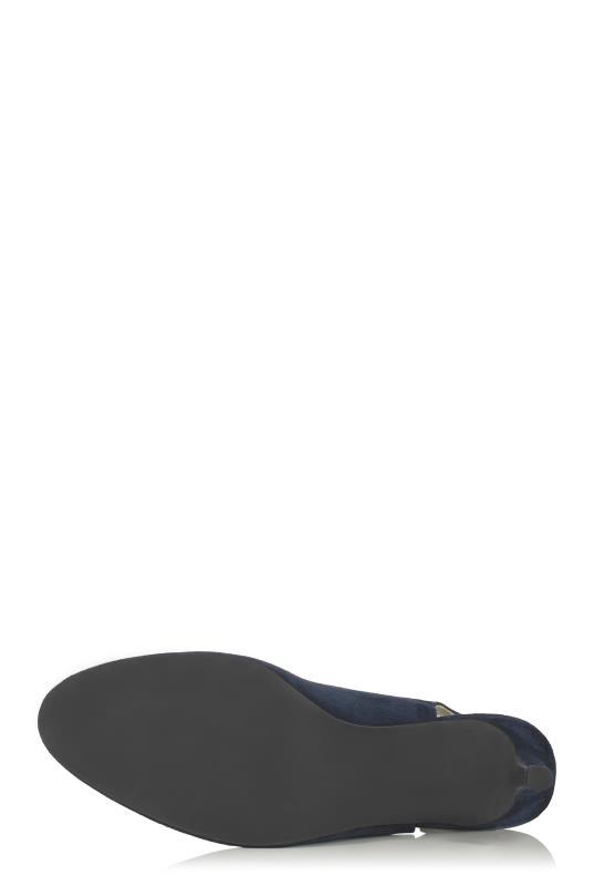 Navy Deluxe Suede Slingback Heel