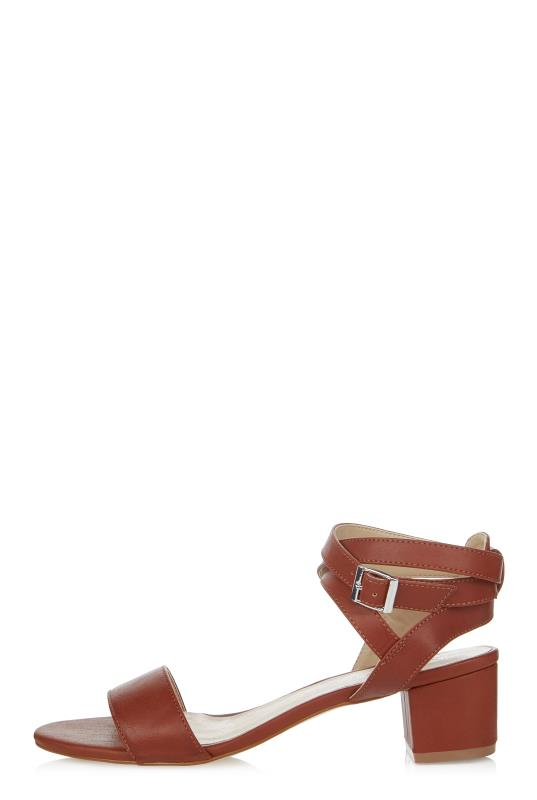 LTS Tan Lila Strappy Block Heel Sandal