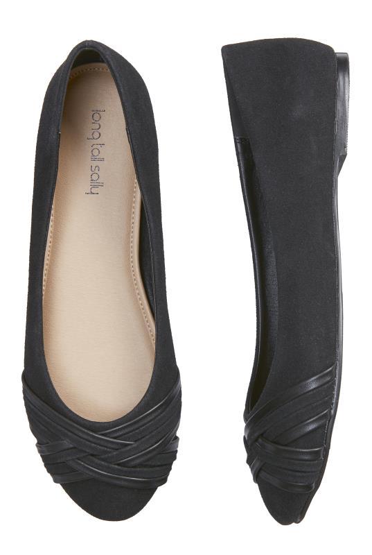 Black Woven Flat Shoes