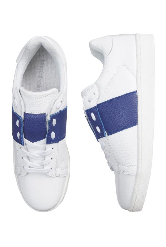 LTS White Arlo Banded Leather Trainers