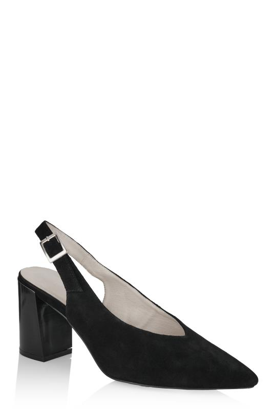 LTS Black Miranda Leather Slingback