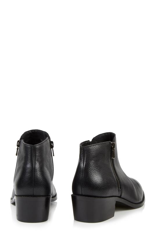 LTS Felicity Black Casual Side Zip Ankle Boot