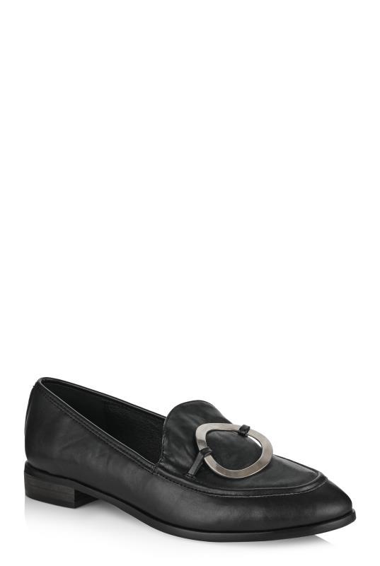 LTS Black Aubrey O-Ring Loafer