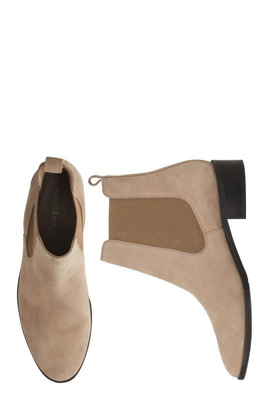 Taupe Gemma Suede Chelsea Boots