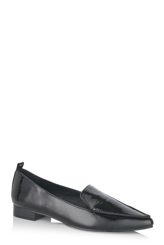 LTS Black Ellis Stitch Detail Loafer