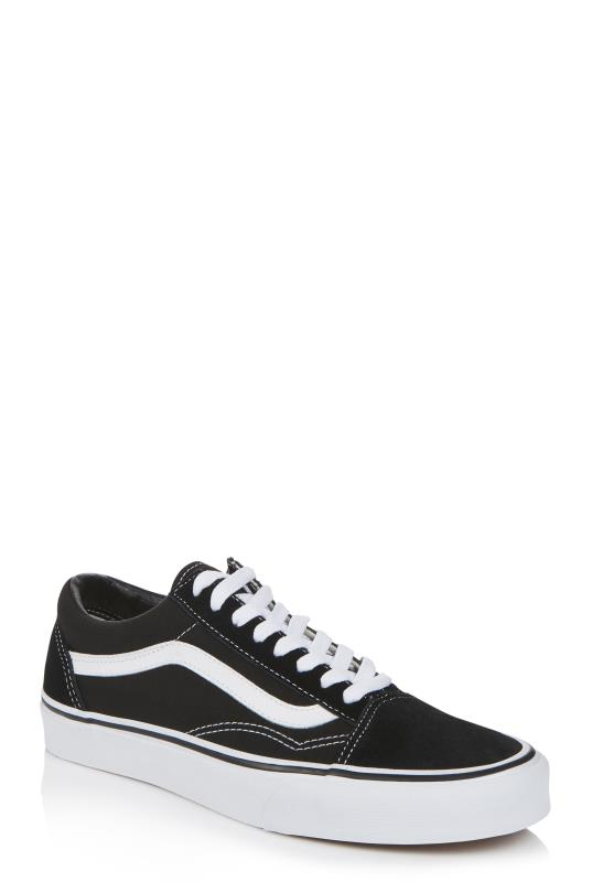 Tall Lace Ups Black and White Vans Old Skool
