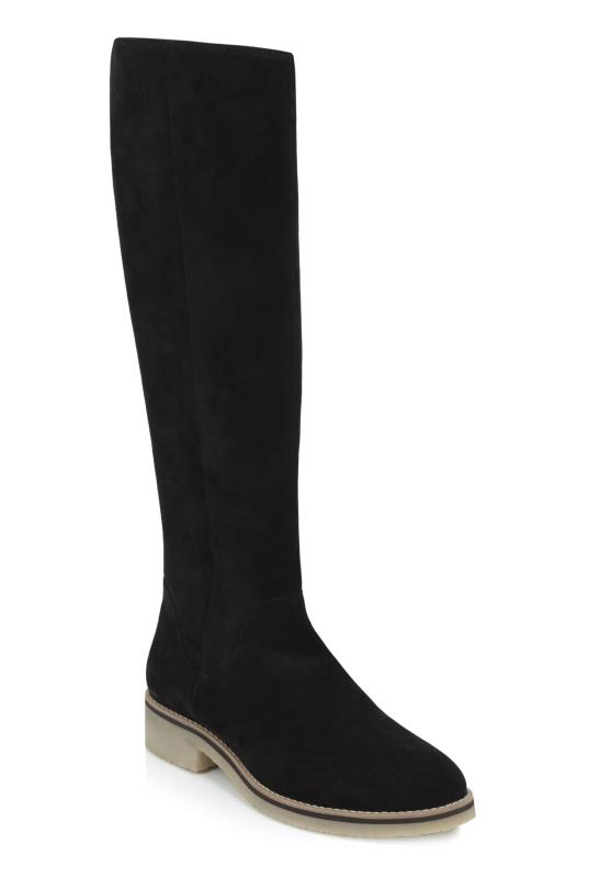 Tall Boots Black Rita Knee High Suede Boot