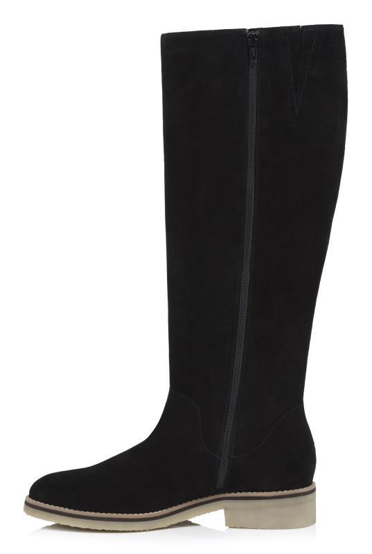 Black Rita Knee High Suede Boot