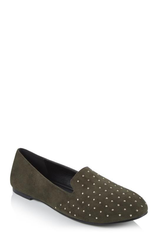 Khaki Lani Studded Loafer
