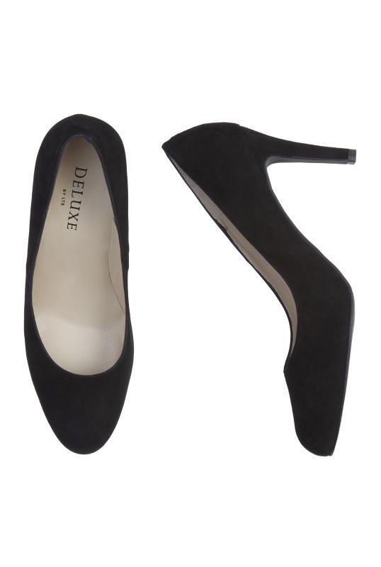 Black Deluxe Almond Toe High Heel
