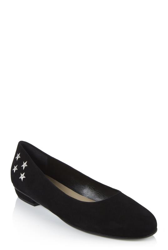Deluxe Star Embroidered Suede Ballerina