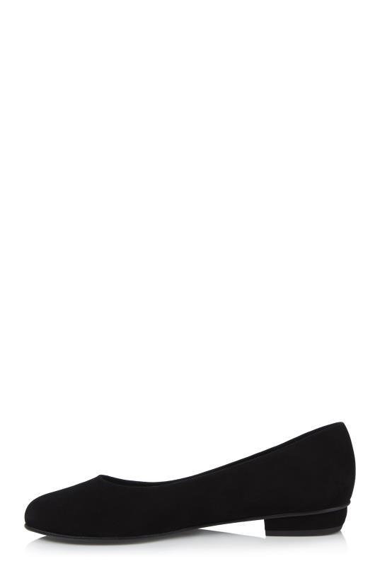 Black Deluxe Star Embroidered Suede Ballerina