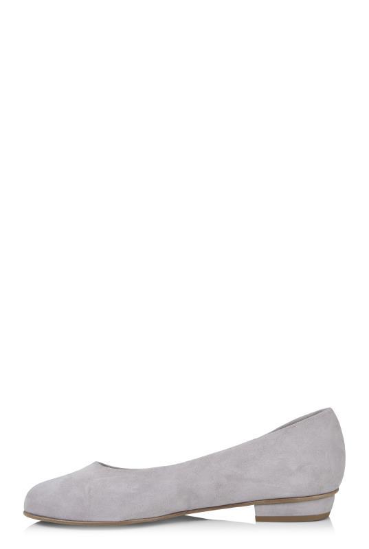 Grey Deluxe Star Embroidered Suede Ballerina