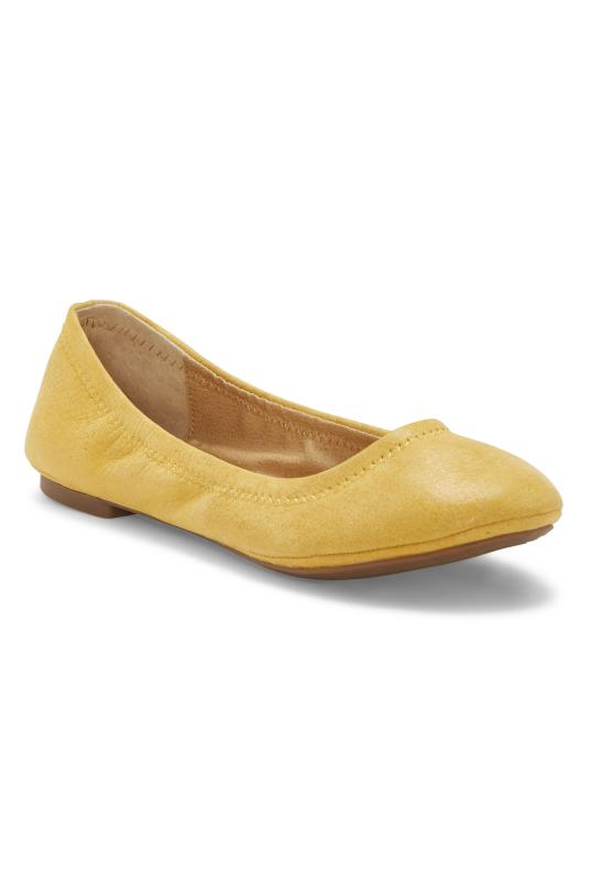 Lucky Brand Yellow Emmie Ballerina Flats