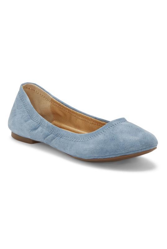 Tall Shoes Blue Lucky Brand Emmie Ballerina Flats