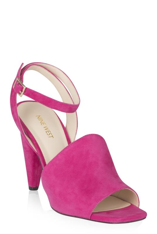 Tall Sandals NINE WEST Pink Cone Leather Heels