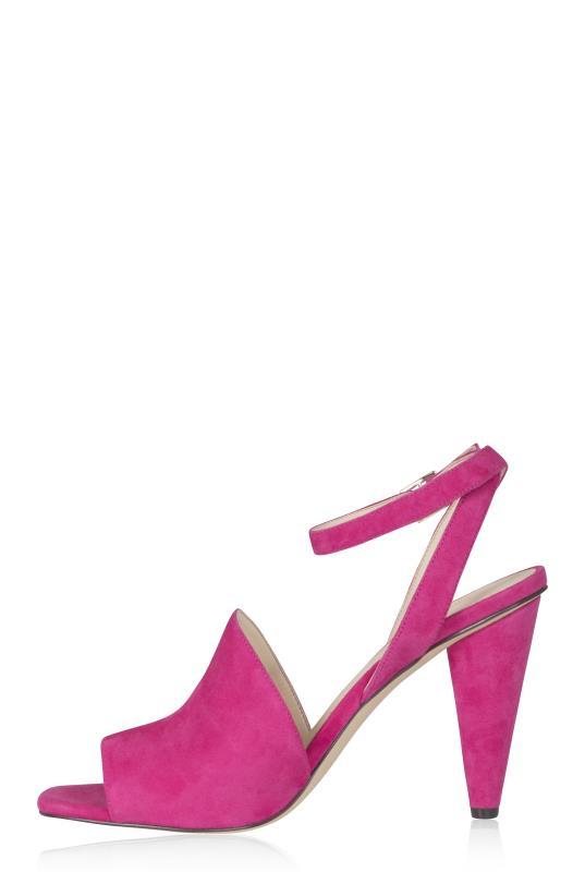 NINE WEST Pink Cone Leather Heels