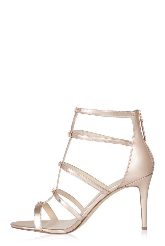 NINE WEST Rose Gold Nayler Gladiator Heeled Sandals_2.jpg