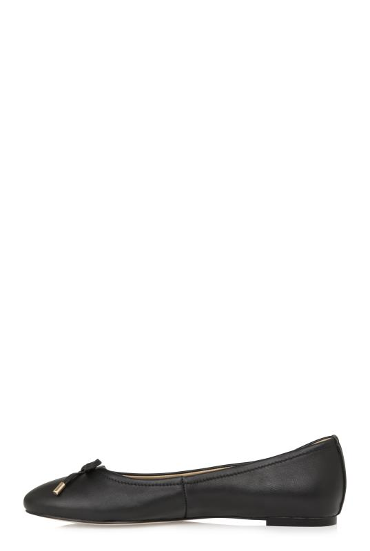 LTS Zita Bow Detail Leather Ballerina