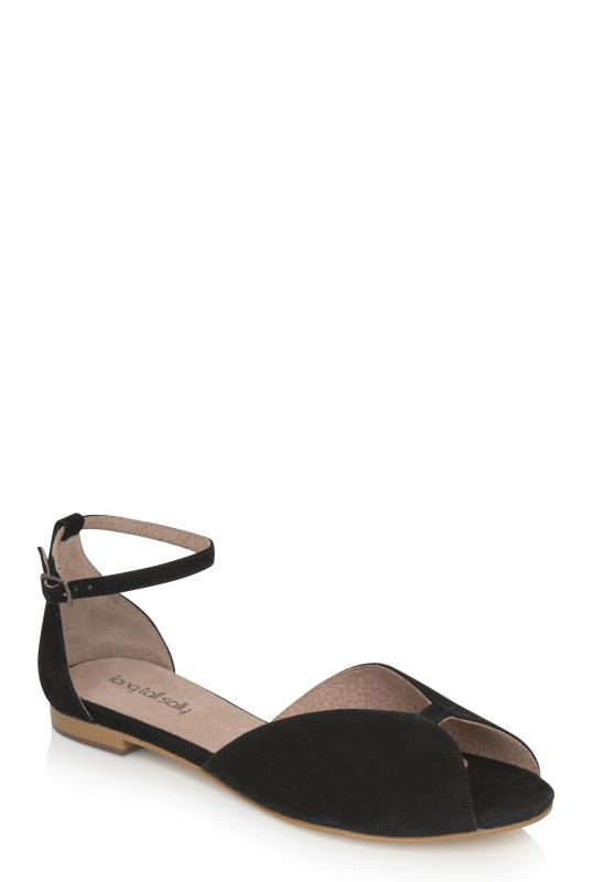 LTS Athena Two Part Suede Flat