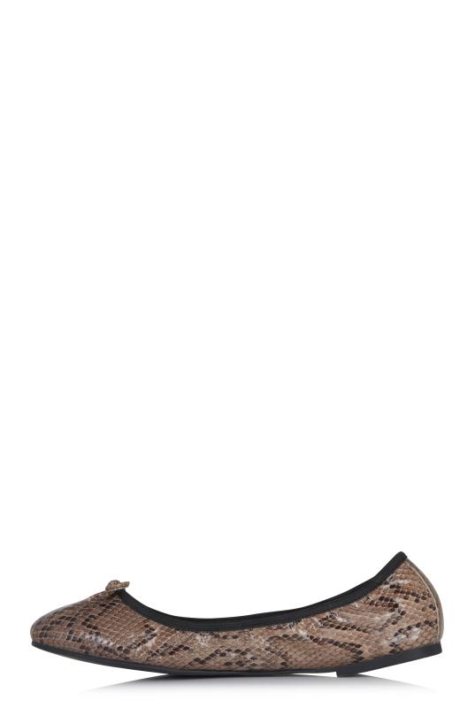 Sal Brown Animal Supersoft Leather Ballerina