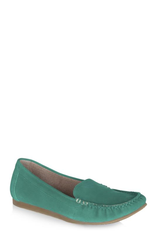 LTS Green Bonnie Whip Stitch Suede Loafer