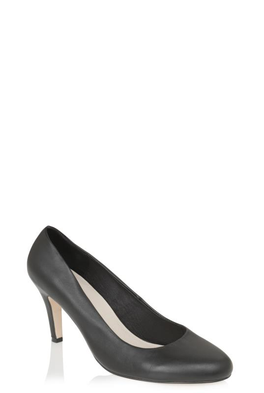LTS Grey Paloma Leather High Heel Court