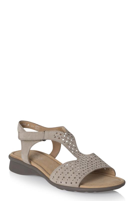 Gabor Torin Perforated Nubuck Sandal