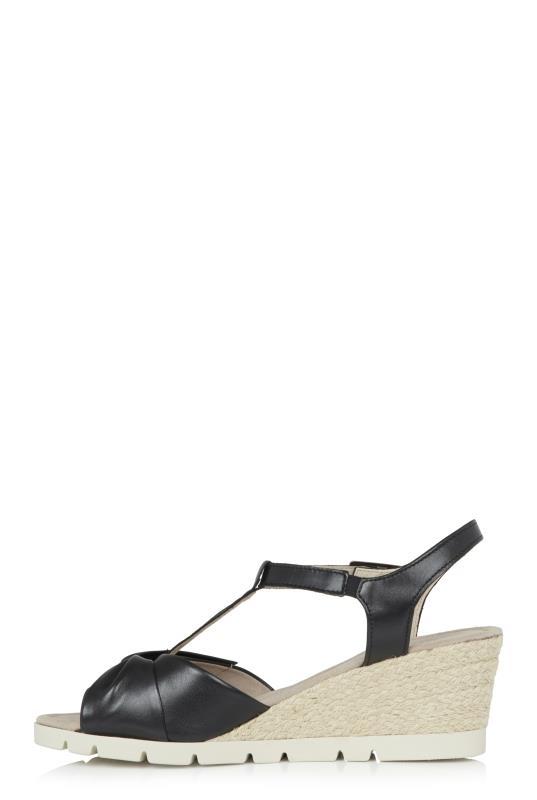 GABOR Black Wedge Sandal