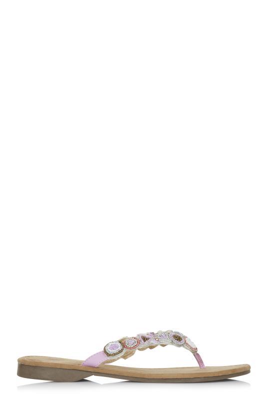 Tall Flipflops Mustang Beaded Sandal