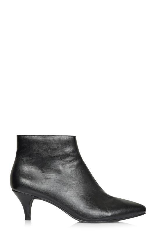 LTS Black Hayden Kitten Heel Ankle Boot