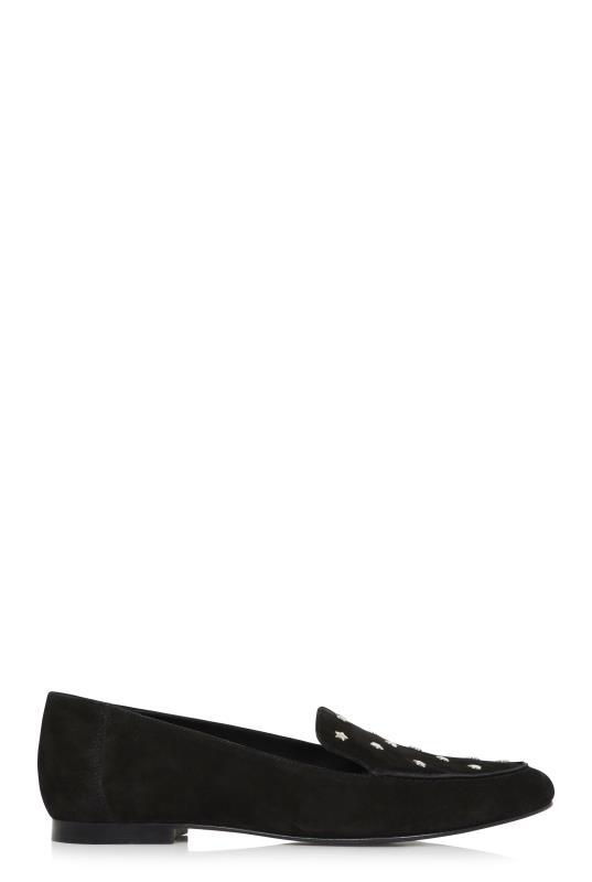 LTS Black Maeve Star Studded Leather Loafer