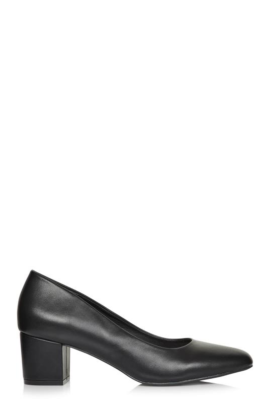 Tall Courts LTS Madeline Block Heel Leather Court Shoe